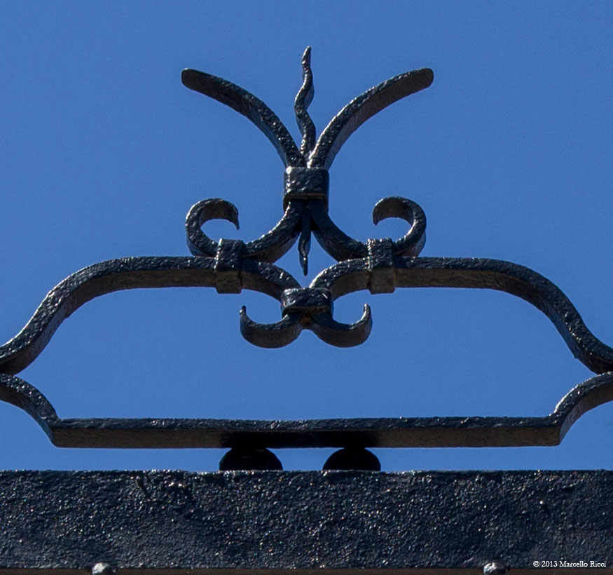 Iron Awning Detail